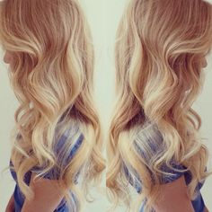 Amazing Sun kissed blonde ombré with an ash blonde base