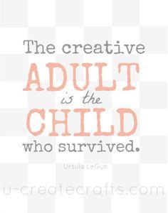 Free Print: The Creative Adult #freeprintable