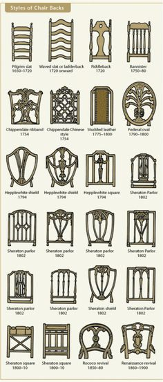 16. Discover the styles of chair backs - 50 Amazingly Clever Cheat Sheets To Simplify Home Decorating Projects
