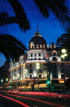Hotel Negresco on Promenade des Anglais in Nice, F...
