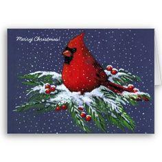 A Christmas Card made with original color pencil art, available at www.zazzle.com/joyart