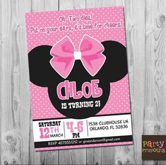 23 Best Minnie Mouse Invitations Images Birthday Theme Parties