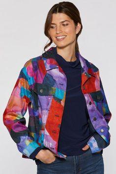 I Know You Know Corduroy Jean Jacket - wearable art by Claire Desjardins. #clairedesjardins #clairedesjardinsart #ClaireDesjardinsApparel #DesignerJacket #JeanJacket #cami #WomensApparel #WearableArt #designerclothing #apparel #designerapparel #artandfashion #fashionandclothing #artonclothing #abstractart #abstractpainting #designerclothes #womensapparel #Tunic #Dress #Jacket #MotoJacket #WomensTop #Scarf #Dress #Blouse #Fall2019 #Winter2019 #FallWinter2019
