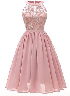 5a9fcc78836 fashion · Lace Dress · Bright Deer Robe Demoiselle d honneur Soirée Femme  Mi-Longue en Tulle et Dentelle