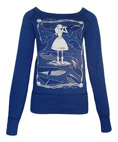 Look what I found on #zulily! Blue Platypus Navy Whale Watcher Sweatshirt by Blue Platypus #zulilyfinds