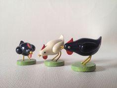 Wendt und Kühn: 3 Hühner, sehr selten und alt (1946)