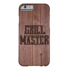 Grill Master Western Branding Iron on Wood Look Barely There iPhone 6 Case