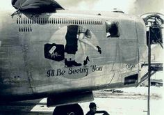 World War II nose art-photo taken by Photographer's Mate Petty Officer Class Carl Hixon Hill Military Art, Military History, Aircraft Painting, Airplane Art, Old Farm Equipment, Ww2 Planes, Vintage Airplanes, Nose Art, Aviation Art