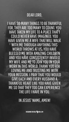 Marriage Prayer: A Thankful Heart