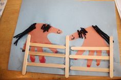 year of the horse craft | She loved making horses from her handprints and she colored the feet ...