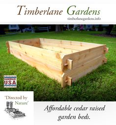Western red cedar raised garden beds with hand crafted mortise & tenon joinery.