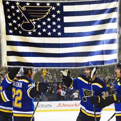St Louis Blues Stars and Stripes Banner