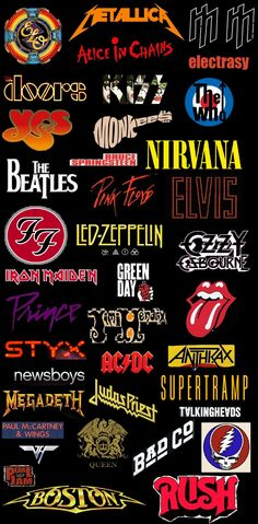 Classic Rock Revolution Logos Stocking Stride by EspioArtworkYou can find Rock bands and more on our website.Classic Rock Revolution Logos Stocking Stride by EspioArtwork Classic Rock Lyrics, Classic Rock Albums, Classic Rock And Roll, Rock Logos, Queen Rock, Rockband Logos, Rock N Roll Baby, Hard Rock, Rock Rock