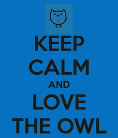 KEEP CALM AND LOVE THE OWL - KEEP CALM AND CARRY ON Image Generator - brought to you by the Ministry of Information