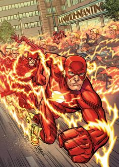 DC has posted seven variant covers at The Source, including Scott Kolins' take on The Flash Flash Comics, Arte Dc Comics, Kid Flash, Flash Art, Comic Book Artists, Comic Books, Comic Art, Dc Speedsters, Flash Tv Series
