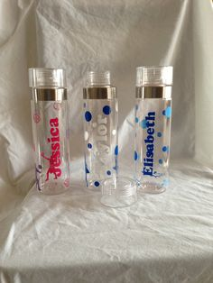 Personalized Water Bottles Teacher by AtoZVinylCreations on Etsy, $12.00