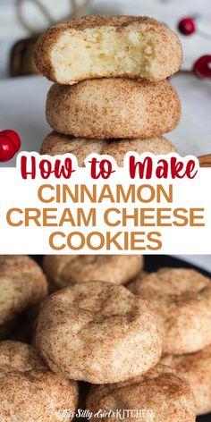 Easy Cookie Recipes, Baking Recipes, Sweet Recipes, Dessert Recipes, Dessert Simple, Cream Cheese Cookies, Cheese Cookies Recipe, Mexican Breakfast, Breakfast Pizza