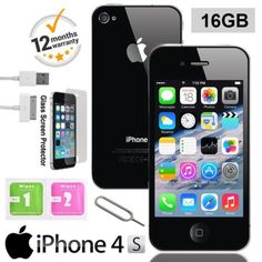Apple iphone 4s 16gb factory #unlocked #mobile smartphone ios black #white uk,  View more on the LINK: 	http://www.zeppy.io/product/gb/2/172255298074/