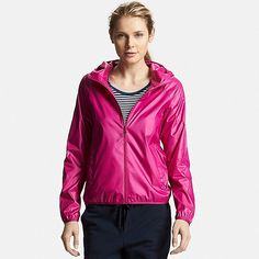Women's Lightweight Packable Hooded Jacket, PINK, large Iceland Shopping, Packable Rain Jacket, Rain Jacket Women, Rain Wear, Uniqlo, Hooded Jacket, Hoods, Sportswear, Windbreaker