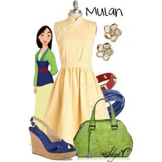 """Mulan - Summer - Disney"" by rubytyra on Polyvore"