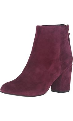 Steve Madden Women's Cynthia Ankle Bootie, Burgundy Suede, 7 M US Best Price