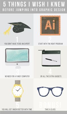 5 things I wish I knew before jumping into graphic design / jones design company