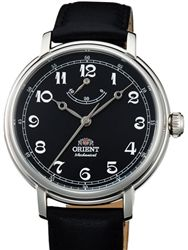 Orient Monarch Manual Winding Watch with black Dial, Stainless Steel Case #DD03002B