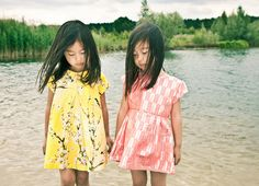 Sweet girls floral and brocade print dresses from Morley for spring 2015