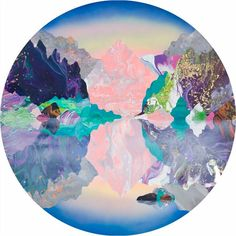 Kate Shaw, Pause (2016), Acrylic and resin on board, 120cm diameter