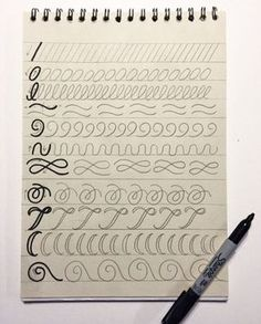 Lettering for Beginners: A Guide to Getting Started: Warm-up exercises