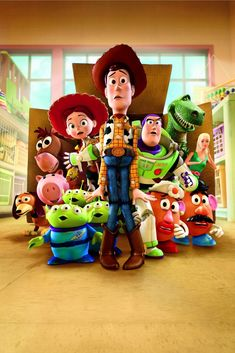 Toy Story and Toy Story 2 are my favorite Pixar movies, so it shouldn't be hard to believe that Toy Story 3 was the movie I was looking forw. Disney Pixar, Art Disney, Disney Kunst, Cartoon Wallpaper, Disney Wallpaper, Iphone Wallpaper, Pixar Movies, Disney Movies, Pixar Characters