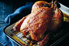 This impressive roast chook is succulent, juicy and stuffed to the max with…
