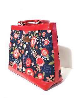 Handtasche Handbag Damen Tasche Handgemachte Tasche Rote