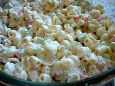 SOUTHERN PASTA SALAD - made the old-fashion way with a delightful, creamy dressing
