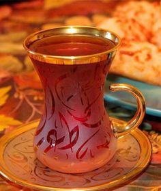 Tea…iraqi style! stikaan chai.
