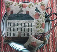 10% Off The Scarlett House Counted Cross-stitch chart - Strawberry House #TheScarlettHouse