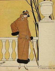 Image result for falling leaves fashion illustrations - vogue - 1920's
