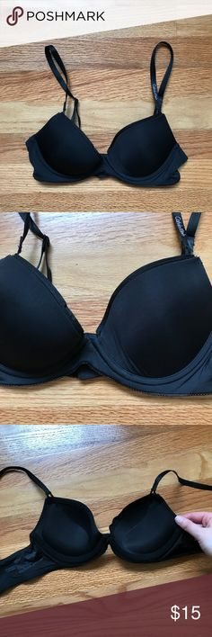 "Calvin Klein Black Push Up Bra Calvin Klein Black Push Up Bra ""Customized Lift"" Size 30C Excellent condition Calvin Klein Intimates & Sleepwear Bras"