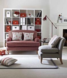 Snowdrop Loveseat in coloured herringbone 'Cardinal' £830  http://www.sofa.com/shop/sofas/snowdrop/#115-HERCAR-0-0