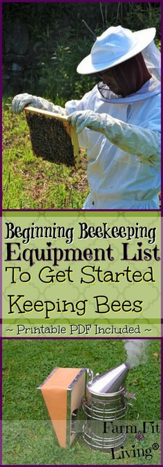 Is beginning #beekeeping equipment holding you back from starting beekeeping? I know it did for me. Let me share with you the same list I used to start beekeeping my first year. via @www.pinterest.com/farmfitliving #backyardbeekeeper