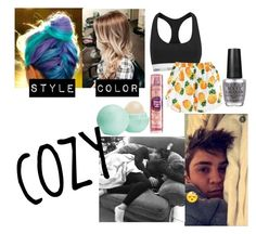 """Imagine:Cozy nights with Sammy"" by skateisbae ❤ liked on Polyvore featuring Calvin Klein, Eos and OPI"