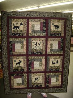 NORTHWOODS Theme Quilt Wall Hanging by Elly's by eleanorholland, $175.00