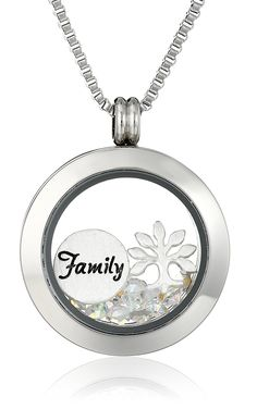 Charmed Lockets 'Family Tree' Swarovski Crystal Charm Locket Necklace * Continue to the product at the image link. (This is an affiliate link and I receive a commission for the sales)