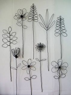 Wall Hanging Wire Flower Arrangement Or Bouquet - -You can find Printmaking and more on our website.Wall Hanging Wire Flower Arrangement O. Wall Hanging Arrangements, Flower Arrangements, Wire Crafts, Diy And Crafts, Arts And Crafts, Wire Art Sculpture, Diy Fleur, Flower Braids, Deco Nature