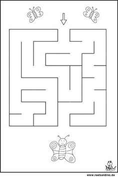 Preschool Learning Activities, Preschool Worksheets, Mazes For Kids Printable, Nursery Worksheets, Montessori Trays, Maze Worksheet, Do A Dot, Baby Education, Free Prints