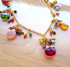 Bohemian Gypsy Beaded Necklace Crystal and by CalculatedFrenzies, $68.00