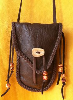 Handmade Leather Medicine Bags by StarrLeathers on Etsy, $40.00