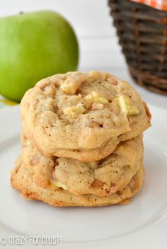 Perfect for Fall...these Apple Toffee Pudding Cookies are some of my favorites! crazyforcrust.com