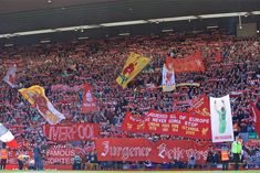 """""""Superb support as always from the Anfield crowd during that first half. Liverpool Football Club, Liverpool Fc, Premier League Champions, Twitter, Crowd, Instagram, Dia De"""