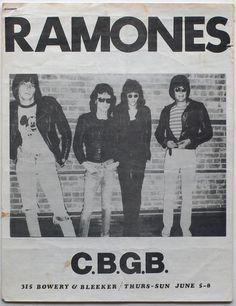 Ramones @ CBGB